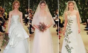 Váy cô dâu 'hoa nhài trắng' của Carolina Herrera