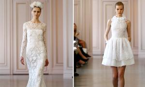 Cô dâu duyên dáng với váy cưới Oscar de la Renta