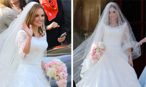 Style cô dâu dịu dàng, đậm chất Anh của Geri Halliwell