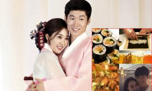 Park Ji Sung làm cơm cuộn cho vợ đang mang bầu