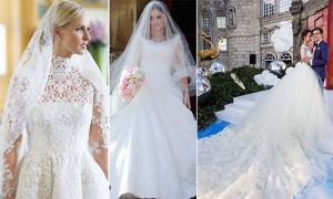 Váy cưới 7 cô dâu nổi tiếng thế giới nửa đầu năm 2015