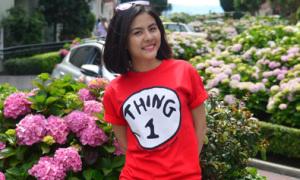 Vân Trang xinh tươi ở Mỹ