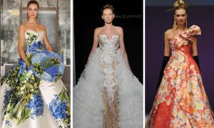 Sàn diễn thời trang lăng xê váy cưới màu sắc dịp cuối năm