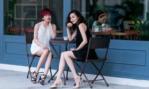 Chị em Thiều Bảo Trang gợi cảm với street style Kin Concept