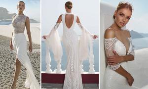 Váy cưới sexy lấy cảm hứng từ đảo Santorini