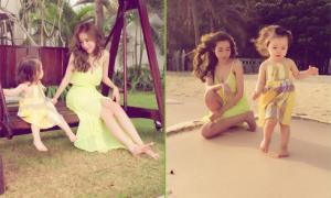 Elly Trần và con gái ngọt ngào trong kỳ nghỉ