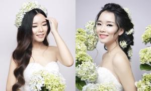 Tư vấn phối hợp màu son và kiểu tóc cho cô dâu
