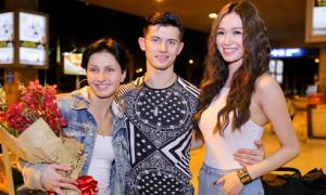 Khánh My ra sân bay đón vũ công quốc tế