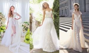 20 mẫu váy '2 trong 1' giúp cô dâu biến hóa trong tiệc cưới