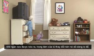 Việc cần làm để tránh trẻ tử vong vì chiếc tủ nhiều ngăn kéo
