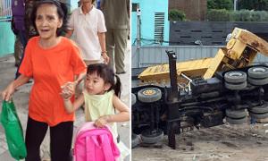 Cần cẩu chục tấn đè sập trường mầm non ở Sài Gòn