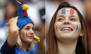 Fan 'biến hình' ngày khai hội Euro