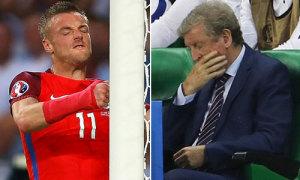 Vardy đấm cột dọc, HLV Hodgson ôm mặt ngán ngẩm
