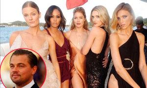 Dàn siêu mẫu 'đổ bộ' lên du thuyền của Leo DiCaprio