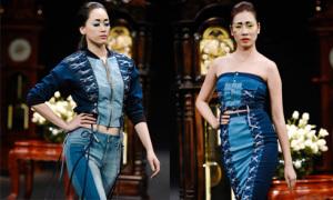 Trang phục Couture ứng dụng cao trên chất liệu jeans