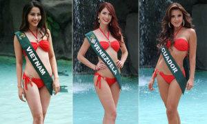 Nam Em diện bikini, khoe dáng bên dàn thí sinh Miss Earth