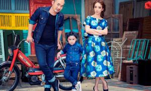 Vợ chồng Thu Trang - Tiến Luật hạnh phúc bên con trai cưng