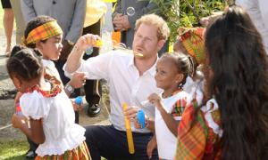 Hoàng tử Harry đỏ mặt khi có người nhắc đến bạn gái
