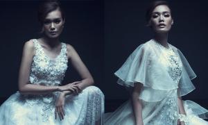 Người mẫu Thanh Thảo quyến rũ với váy dạ hội trắng