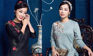 Minh Hương duyên dáng với áo dài cách tân