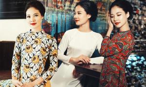 Trần Thị Quỳnh dịu dàng với áo dài miền Nam