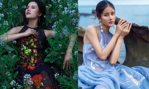 Hương Ly diện váy mỏng, tạo dáng giữa thiên nhiên tươi đẹp