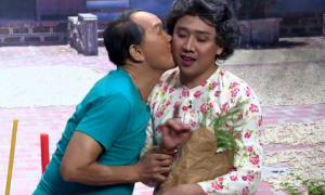 Trấn Thành choáng váng khi được nghệ sĩ Thanh Điền hôn