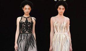 Đầm Couture đính kết cầu kỳ của Hà Duy