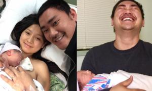 Chồng Khánh Hiền bật khóc khi vợ sinh con trai đầu lòng