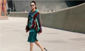 Sella Trương diện áo lông cá tính tại Seoul Fashion Week