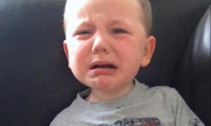 Biểu cảm giận dữ của cậu bé 5 tuổi đòi tới quán rượu khiến mẹ phì cười