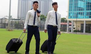 Cầu thủ U20 Việt Nam ăn diện bảnh bao trong ngày sang Đức tập huấn