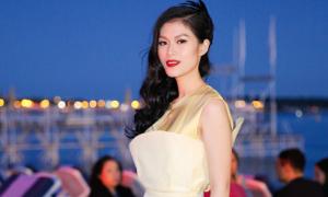 Ngọc Thanh Tâm làm MC trong đêm tiệc của điện ảnh Việt tại Cannes