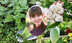 Vườn rau sạch, hoa thơm, quả ngọt trên cao của nữ giám đốc Sài Gòn
