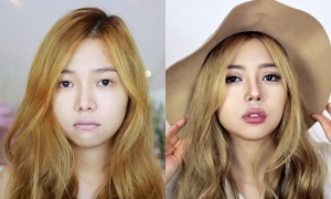 9X Hà Nội trổ tài trang điểm 'biến hình' thành Lily Maymac