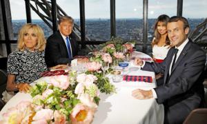 Nhà hàng lãng mạn trên tháp Eiffel nơi vợ chồng Tổng thống Trump dùng bữa