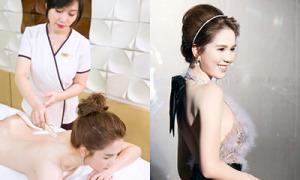 Sau vai diễn đả nữ, Ngọc Trinh cấp tốc tắm trắng phục hồi da
