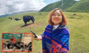 Cô gái Việt thu hết can đảm chứng kiến tục thiên táng của người Tạng