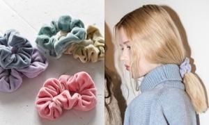 Chun buộc tóc vải nhung 'quê mùa' lên ngôi tại Tuần lễ Thời trang New York