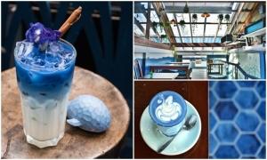 'Sống ảo' ở quán cà phê xanh biển Bangkok, Thái Lan