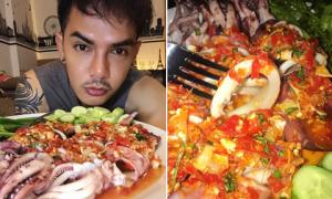 Món mực triệu view 'ngon quên lối về' của chàng trai Thái Lan