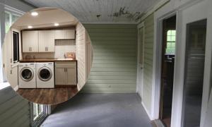 Ông bố dành nửa năm tự sửa không gian ẩm mốc thành phòng giặt