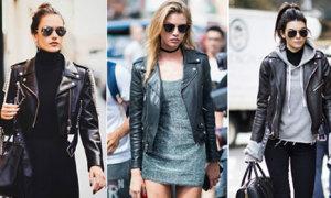 Đủ kiểu mix áo khoác da từ dàn thiên thần Victoria's Secret
