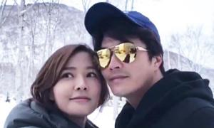 Vợ chồng Kwon Sang Woo 'trốn con' sang Hokkaido ngắm tuyết rơi