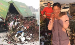 Đào 13 tấn rác để tìm nhẫn kim cương vô tình vứt bỏ