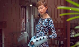 Phí Phương Anh diện áo dài gạch bông, hóa 'Cô Ba Sài Gòn' cá tính