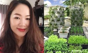 Mẹ 8X ở Sóc Trăng đầu tư 100 triệu đồng làm vườn trồng rau sạch
