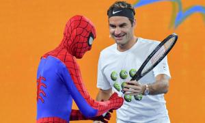Djokovic, Federer và Wozniacki so tài cùng 'biệt đội siêu anh hùng'