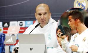 HLV Zidane tiết lộ lý do C. Ronaldo mượn điện thoại 'soi' vết thương