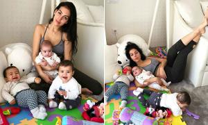 Bạn gái C. Ronaldo chia sẻ 'sự thật của việc làm mẹ'